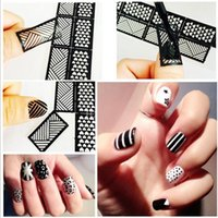 Wholesale NK01 The new women s fashion sexy Manicure printing template DIY creative hollow hollow nail Decal Sticker