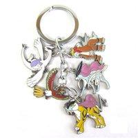 Wholesale 2016 keyChains Pikachu Car Keychain Metal Pendant Accessories Poke Little Wisdom Design