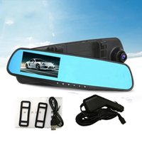 automobile rear view mirrors - New Model E Car DVR Automatic Cycle Recording Rear View Mirror Fashion Automobile Thin Section HD P Driving Recorder Car DVRs