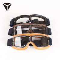 Wholesale Vintage Universal Foldable Silver Frame Goggles Motorcycle Glasses Helmet Goggle Motorbike Sunglasses Colors