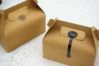 Wholesale Kraft Candy Box Party Wedding Favor Bakery Gift Cookie Cup Cake Box x9 x8cm CH