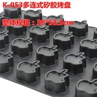 apple cake pan - NEW apples shaped cavities liquid silicone rubber black injection cake pastry oven baking pan mold for Xmas merry Christmas