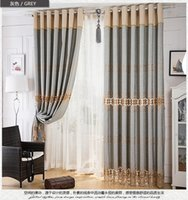 Wholesale High class european style cotton embroidered curtains for Living Room the Bedroom MD0019