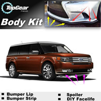 Wholesale Bumper Lip Lips For Ford Flex Front Skirt Deflector Spoiler For Car Tuning The Stig Recommend Body Kit Strip
