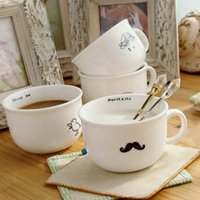 Wholesale zakka cup fresh raindrops sheep beard breakfast Milk cup ceramic coffee cup ak1175