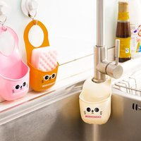 Wholesale High Quality Creative Home Furnishing Bathroom Cartoon Cat Kitchen Gadget Storage Soap Box Hanging Box Silicone Dining Bar Storage ZJ T7