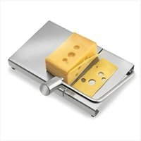 Wholesale Hot Sale Stainless Steel Cheese Slicer cutter butter knife with cheese board for dessert cake cutting machine cooking tools