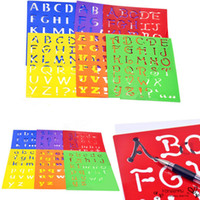 Wholesale 6Pcs Washable Stencils Kids Capitall Alphabet Letter Drawing Templates Children Educational Toys Plastic Painting x215mm
