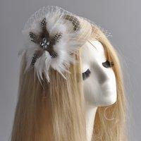 asian hen - gift handmade ladies headwear bridal wedding party proms hens accessory mini top hat cap feather fascinator hair clip