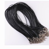 Wholesale Hot Sale Fashion Colorful DIY Real Leather Chains Pendant Necklace Rope Charms Findings Lobster Clasp String Cord DHDY673