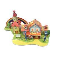 best buildings - Rainbow House Building Models Best Cheap Cardboard Rainbow Villa Buildings Puzzle for Children DIY Game A084