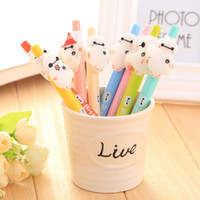 Wholesale new pattern gel pens plastic pens writing pens cute kawaii cartoon stationery plastic material production