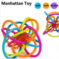 Wholesale 2016 Hot Sale Manhattan Toy Winkel Rattle and Sensory Teether Activity Toy Hand Bell Toys Baby Education Toys