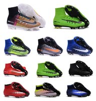 Wholesale 2016 Top Sale Original Quality Mens Football Boots Mercurial Superfly V FG Cheap High Ankle Outdoor Superfly Soccer Boots Shoes