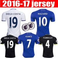 Wholesale top thai Chelsea Adult HAZARD JERSEYS Uniforms HOME BLUE DIEGO COSTA FABREGAS PATO WILLIAN PEDRO jersey SHIRTs