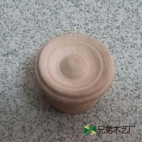 Wholesale White embryo spiral wooden handle wood handle single hole cabinet drawer handle big mushroom handle round wooden handle
