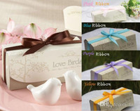 Wholesale 400PCS wedding favors and gift Love Birds Salt and Pepper Shaker Party favors SET