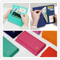 big red envelope - s7 wallet case Fashion long big crown wallets pouch cases purse pu leather envelope handbag for iphone s plus samsung s7 edge note new