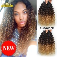 Wholesale Grade a Ombre Curly Hair Bundles Ombre Hair Extensions Three Tone b Malaysian Hair Deep Curly Ombre Human Hair Weave Curly Hair