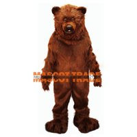 Wholesale Friendly Grizzly Bear Professional Quality Lightweight Mascot Costume Adult Size