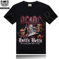 banded polo shirts - 21 kinds of Patterns Fashion rock band Tee Cool black t shirt personality t shirt for Mens ACDC rock