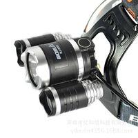 Wholesale New BORUiT led XM L2 T6 strong baldheaded light USB charging head lamp Outdoor fishing hunting lamp