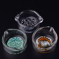 Wholesale Glass Ashtray Dish OIL RIG DISH DABBER Reversal Color Perfect Size for Glass bongs water pipes T24