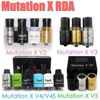 Nouveau Mutation X V2 V3 V4 V4S V5 S RDA atomiseur réversible MutationX Indulgence Contrôle du débit d'air Bore Gouttes d'égout e cigs Vapor mods RBA DHL