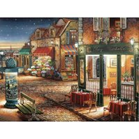 animal crossing towns - colorful Romantic town Diy Diamond Painting home decor cross stitch embroidery gift square drill wallpaper X40CM HWI