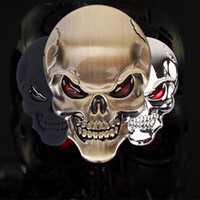 Wholesale Fashion D Skull zinc alloy Metal Car Motorcycle Sticker Skull Emblem Badge car styling stickers accessories