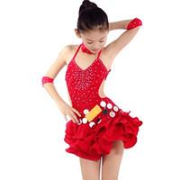 Robe de danse latine pour enfants en taille grande pour filles Salsa Tango Costume de danse de performance standard 2015 New Arrival Summer Style