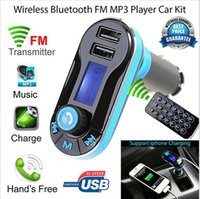 Wholesale Hot Wireless Bluetooth FM Transmitter MP3 Player Car Kit Charger for iPhone Samsung