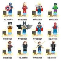 batman classic toys - Super Heroes The Avengers Captain America superman Iron Man Hulk Batman Wolverine Building Blocks Sets Classic Minifigures Toys D3919