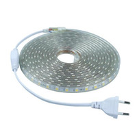 ac plug wire - At a sale SMD AC V V led strip flexible light m m m m m EU US Power Plug leds m Waterproof led light