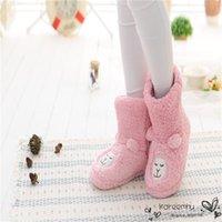 alpaca slippers - Cartoon Alpaca Fall Winter Home Indoor Slipper Women Lady Girl Warm Cotton Plush Floor Anti slip Shoe Mujer Zapatos