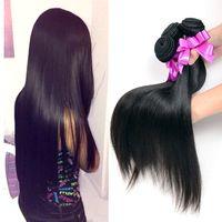 Wholesale 100 Human Hair Peruvian Virgin Hair Straight Hair Unprocessed Virgin Peruvian Hair Weaves Mixed Length Human Hair Bundles