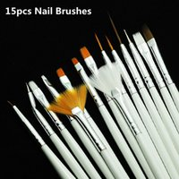 Wholesale Nail Art Brushes Set White Decorations Gel Painting Pen Nail Brush Professional Nail Equipment Drawing Tool