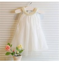 baby style clothings - New hot Korean girl dress children fairy chiffon clothings high quality kids clothes yrs baby girl pearls collar dresses