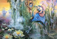 asia lakes - Custom large mural wallpaper art d baby room European oil painting style sitting room bedroom Lakes mountains and rivers angel dream baby