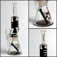 Illadelph Mini Freezable bobine Tube 7MM bécher bongs tubes d'eau de verre concentrer construire un bubbler hookahs dab rigs livraison gratuite