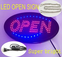 Wholesale 20PCS Animated LED Business OPEN SIGN On Off Switch Super Bright Light