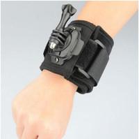 Wholesale New degree Rotation gopro accessories gopro Wrist Mount Hand Strap for go pro camera gopro hero gopro hero SJ4000 xiaomi yi