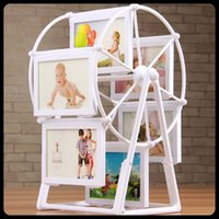 Wholesale High quality white inch photo frame picture frames ferris wheel Windmill children birthday gift Home Decor