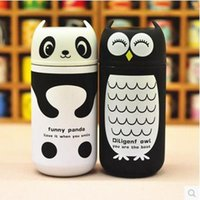 art cola - Lazy cartoon creative personality stainless steel thermos cup with cover cup of cola national shipping special offer