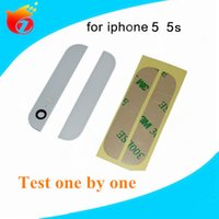 Wholesale For iPhone s Bottom Up and Down Glass Back Glass With Rear Housing partsBlack and White