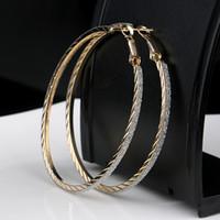 Wholesale 2017 Hot CM Hoop Round Dangle Earring Jewelry Women Crystal Diamante Rhinestone Large