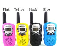 Wholesale Walkie Talkies Twin Toy Mini No Radiation Safe for Kids Children Adults Up to KM Range Portable