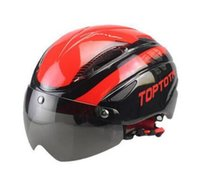 Wholesale 2016 Bicycle Cycling Helmet EPS PC Material Ultralight Mountain Bike Helmet Integrally Molded With Goggles Safety Helmets