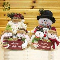 baby xmas ornaments - 3 In Big size Christmas tree and Home Decorations Xmas Santa Snowman Ornaments kids baby cartoon plush toys new year Gift