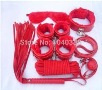 Wholesale Leather adult toys soft bracelets bell clip sex games set Pink red Adult Games Cheap Adult Games